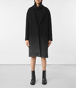 Womens Sancia Coat (Black/Grey) - product_image_alt_text_1