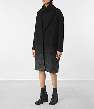 Womens Sancia Coat (Black/Grey) - product_image_alt_text_4