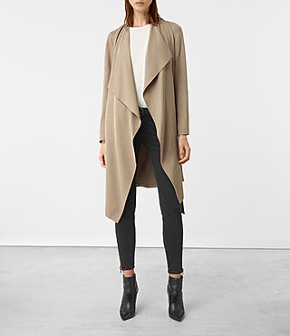 Damen Iza Coat (Light Sand) -