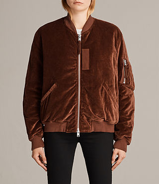 Womens Nash Bomber Jacket (RUST ORANGE) - Image 1