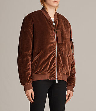 Womens Nash Bomber Jacket (RUST ORANGE) - Image 3