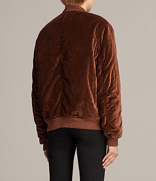 Womens Nash Bomber Jacket (RUST ORANGE) - Image 4