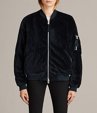 Womens Nash Bomber Jacket (TEAL BLUE) - Image 1