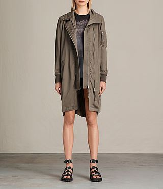 Damen Oren Light Parka (DARK FERN GREEN)