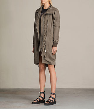 Women's Oren Light Parka (DARK FERN GREEN) - product_image_alt_text_3