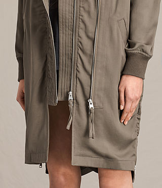Women's Oren Light Parka (DARK FERN GREEN) - product_image_alt_text_4