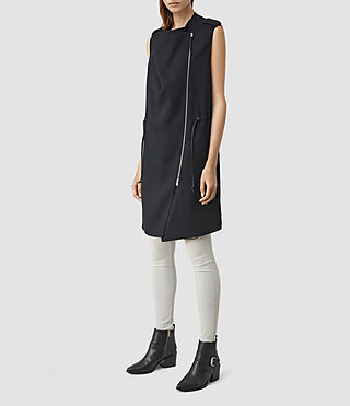 Damen Ellaria Sleeveless Coat (Ink Blue) - product_image_alt_text_3