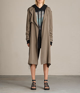 Femmes Trench-coat Amelie (SAGE GREEN)