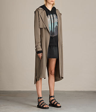 Femmes Trench-coat Amelie (SAGE GREEN) - product_image_alt_text_3