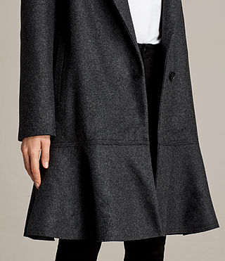 Womens Grace Coat (Charcoal Grey) - Image 2