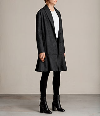 Womens Grace Coat (Charcoal Grey) - Image 3