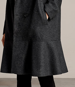 Womens Grace Coat (Charcoal Grey) - Image 5