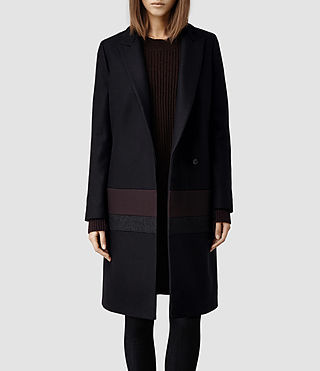 Womens Enver Coat (Aubergine)