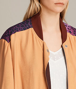 Women's Cleo Reversible Bomber Jacket (Orange) - product_image_alt_text_2