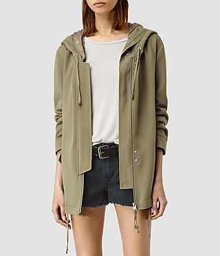 Mujer Artae Jacket (DARK SAGE GREEN) - product_image_alt_text_1