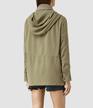 Womens Artae Jacket (DARK SAGE GREEN) - product_image_alt_text_3