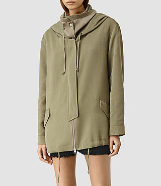 Femmes Artae Jacket (DARK SAGE GREEN) - product_image_alt_text_4