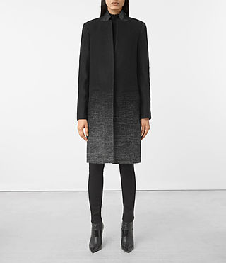 Womens Jaiya Coat (Black/Grey)