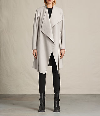 Femmes Manteau Lora (Pebble Grey)