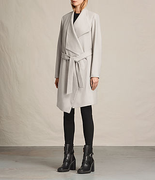 Femmes Manteau Lora (Pebble Grey) - product_image_alt_text_4