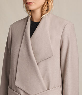 Womens Lora Coat (Taupe) - product_image_alt_text_2