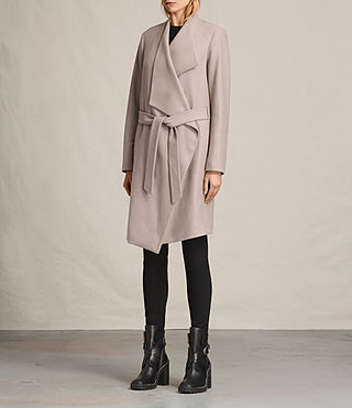 Womens Lora Coat (Taupe) - product_image_alt_text_4