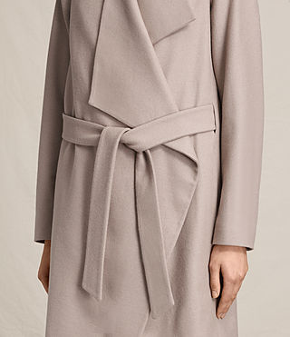 Womens Lora Coat (Taupe) - product_image_alt_text_5