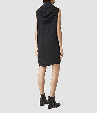Femmes Artae Sleeveless Coat (Ink Blue) - product_image_alt_text_3