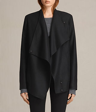 Damen Lora Rib Jacket (Black)