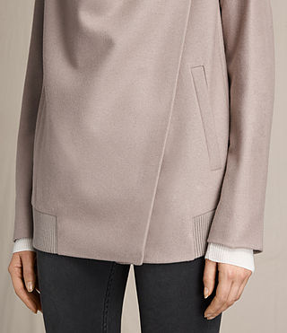 Womens Lora Rib Jacket (Taupe) - product_image_alt_text_4