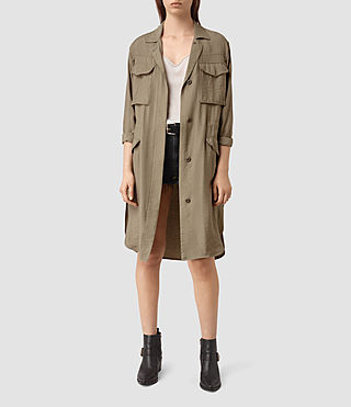 Damen Emiri Shirt Coat (SAGE GREEN)