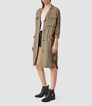 Mujer Emiri Shirt Coat (SAGE GREEN) - product_image_alt_text_2