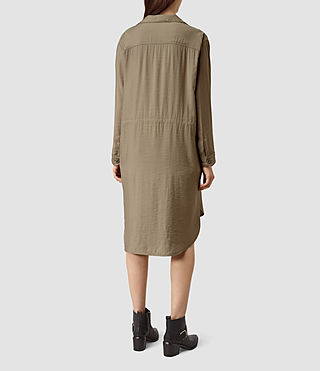 Mujer Emiri Shirt Coat (SAGE GREEN) - product_image_alt_text_3