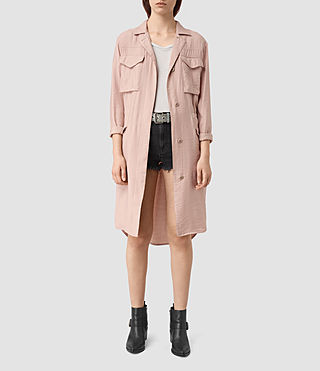 Women's Emiri Shirt Coat (GHOST PINK)