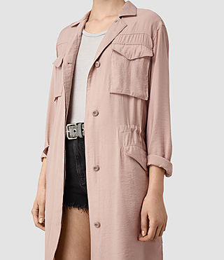 Womens Emiri Shirt Coat (GHOST PINK) - product_image_alt_text_2