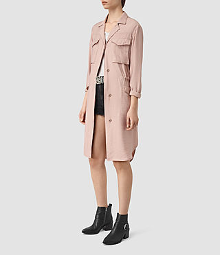 Mujer Emiri Shirt Coat (GHOST PINK) - product_image_alt_text_3