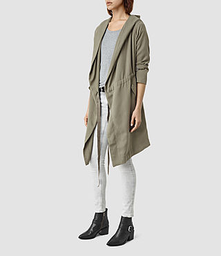 Women's Pelya Parka (DARK SAGE GREEN) - product_image_alt_text_2