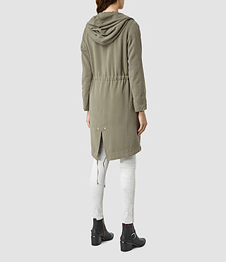Women's Pelya Parka (DARK SAGE GREEN) - product_image_alt_text_3