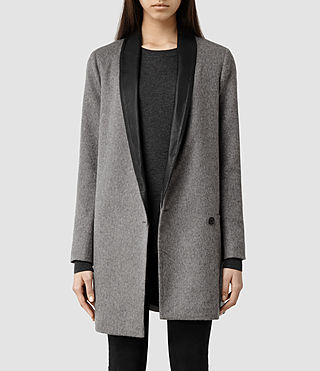 Womens Aiva Savona Coat (Light Grey)