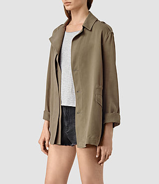 Womens Kaiya Jacket (DARK SAGE GREEN) - product_image_alt_text_2