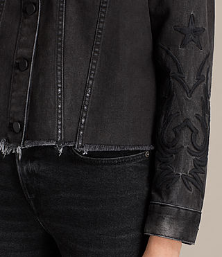 Femmes Veste en jean Philly (Washed Black) - product_image_alt_text_2
