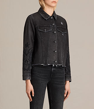 Femmes Veste en jean Philly (Washed Black) - product_image_alt_text_3