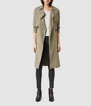 Women's Emil Mac Coat (SAGE GREEN) -