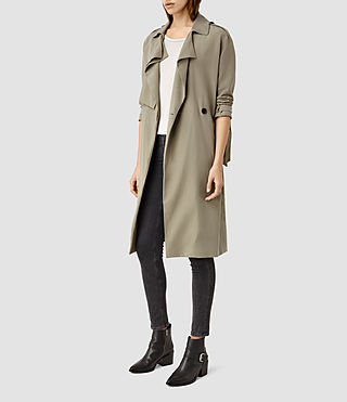 Women's Emil Mac Coat (SAGE GREEN) - product_image_alt_text_2