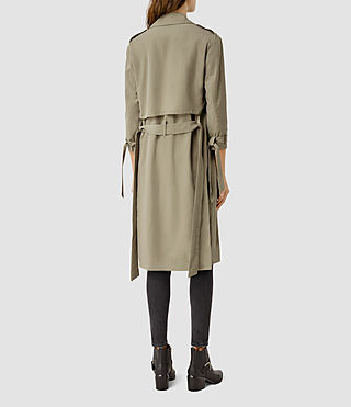 Women's Emil Mac Coat (SAGE GREEN) - product_image_alt_text_3