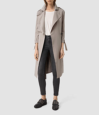 Damen Emil Mac Coat (SOFT TRUFFLE BROWN) -