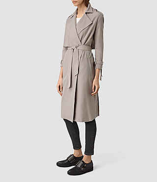 Damen Emil Mac Coat (SOFT TRUFFLE BROWN) - product_image_alt_text_2