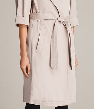 Damen Luna Stitch Twill Mac (Dusty Pink) - product_image_alt_text_2