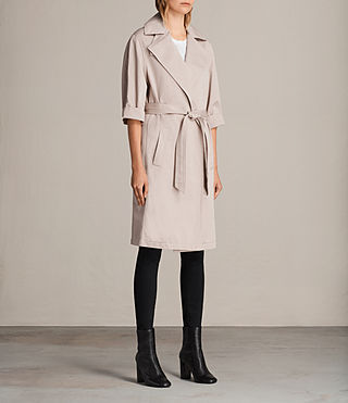 Womens Luna Stitch Twill Mac (Dusty Pink) - product_image_alt_text_5