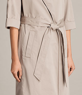 Donne Trench Luna in twill (Putty Grey) - Image 2
